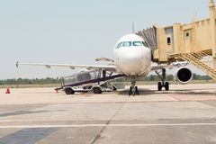 Aeroplano che prepara al volo Immagini Stock