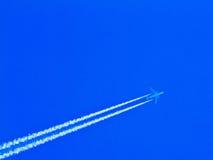 Aeroplano in cielo Fotografie Stock