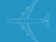 Aeroplano civil moderno stock de ilustración