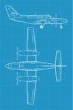 Aeroplano civil moderno Fotografía de archivo libre de regalías