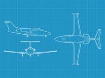 Aeroplano civil moderno Imagen de archivo