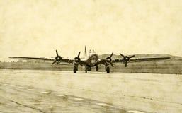 Aeroplano classico del bombardiere fotografie stock