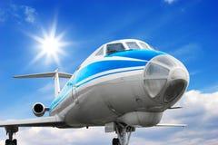Aeroplano comercial Fotos de archivo libres de regalías