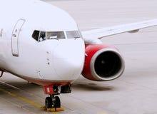 Aeroplano commerciale Immagini Stock