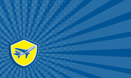 Aeroplano commerciale Jet Plane Airline Retro del biglietto da visita illustrazione di stock
