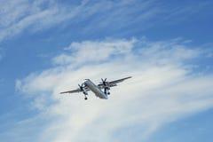 Aeroplano con el propulsor fotografía de archivo