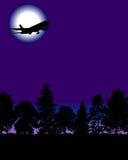 Aeroplano con gli alberi illustrazione di stock