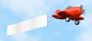Aeroplano con la bandera - aislada Imagenes de archivo