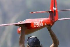 Aeroplano controlado de radio de lanzamiento Fotos de archivo libres de regalías