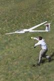 Aeroplano controllato radiofonico di lancio Fotografia Stock Libera da Diritti