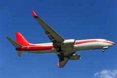 Aeroplano de BOEING 737-800 Fotos de archivo