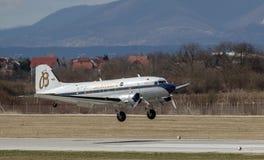 Aeroplano de Breitling DC-3 en Zagreb Imagen de archivo libre de regalías