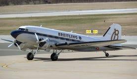 Aeroplano de Breitling DC-3 en Zagreb Fotos de archivo libres de regalías