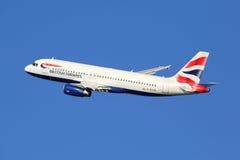Aeroplano de British Airways Airbus A320 Fotografía de archivo libre de regalías