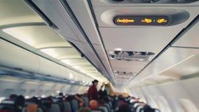 Aeroplano de la cabina de pasajero Fotos de archivo libres de regalías