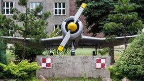 Aeroplano de la ciudad de Warta en Polonia foto de archivo libre de regalías