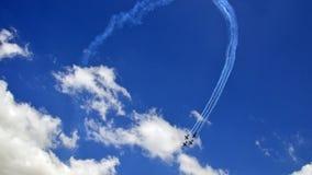 Aeroplano de la formación de la exhibición de Airshow foto de archivo