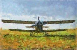 Aeroplano de la ilustración stock de ilustración