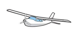 Aeroplano de la ilustración de Cessna 210 Fotografía de archivo