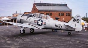 Aeroplano de la marina de guerra SNJ Imagen de archivo libre de regalías
