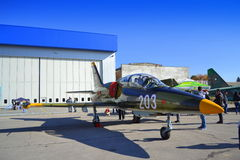 Aeroplano de los militares de L-39ZA Albatros Imagen de archivo