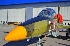 Aeroplano de los militares de L-39ZA Albatros Imagen de archivo libre de regalías