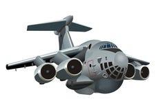 Aeroplano de los militares de la historieta Fotos de archivo libres de regalías