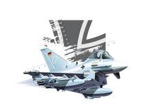 Aeroplano de los militares de la historieta Imágenes de archivo libres de regalías