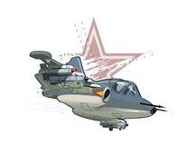 Aeroplano de los militares de la historieta Fotografía de archivo libre de regalías