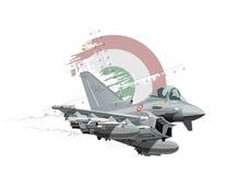 Aeroplano de los militares de la historieta Foto de archivo