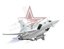 Aeroplano de los militares de la historieta Foto de archivo libre de regalías