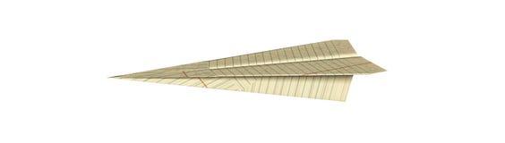 Aeroplano de Origami Fotos de archivo libres de regalías