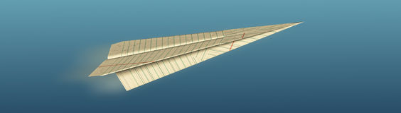 Aeroplano de Origami Fotografía de archivo