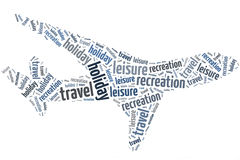 Aeroplano de palabras Imagen de archivo libre de regalías