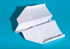 Aeroplano de papel Imagenes de archivo