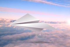 Aeroplano de papel fotos de archivo libres de regalías