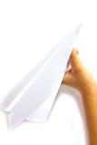 aeroplano de papel Foto de archivo