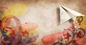 Aeroplano de papel fotografía de archivo libre de regalías