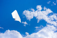 Aeroplano de papel Foto de archivo libre de regalías