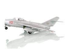 Aeroplano de plata Fotos de archivo libres de regalías
