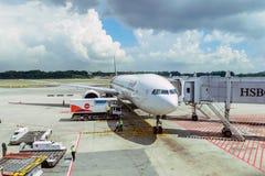 Aeroplano de Thai Airways imagen de archivo libre de regalías