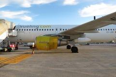 Aeroplano de Vueling Foto de archivo libre de regalías