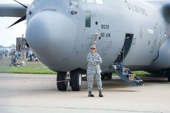 Aeroplano degli S.U.A. per trasporto e il refuelin aereo Fotografia Stock Libera da Diritti