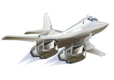 Aeroplano dei militari del fumetto Fotografia Stock Libera da Diritti