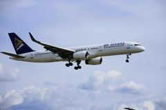 Aeroplano del aire Astaná imagen de archivo libre de regalías