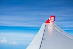 Aeroplano del ala de Air Asia Foto de archivo libre de regalías
