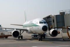 Aeroplano del Alitalia Fotografia Stock Libera da Diritti