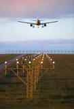 Aeroplano del aterrizaje Fotos de archivo