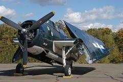 Aeroplano del blu marino Fotografie Stock Libere da Diritti