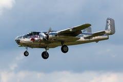 Aeroplano del bombardiere di B-25 Mitchel WW 2 Fotografia Stock